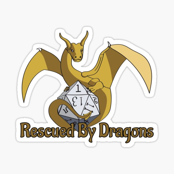 Rescued By Dragons Sticker