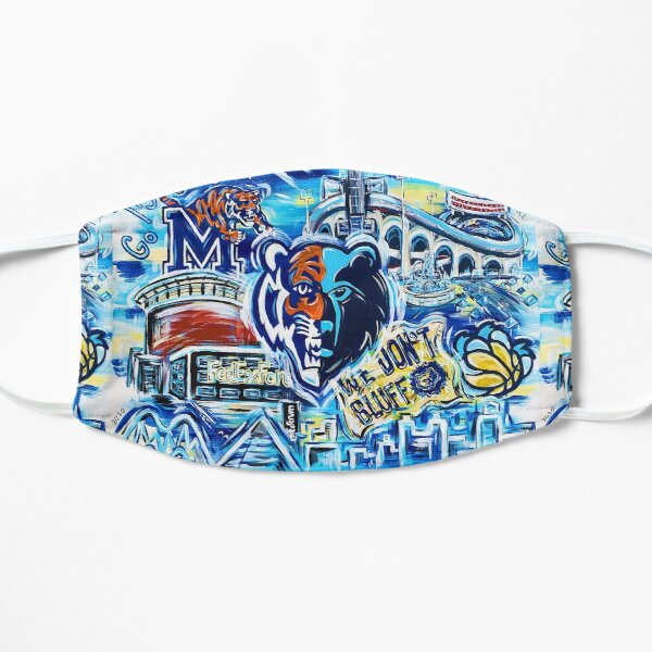 Pop Art Memphis Sports Flat Mask