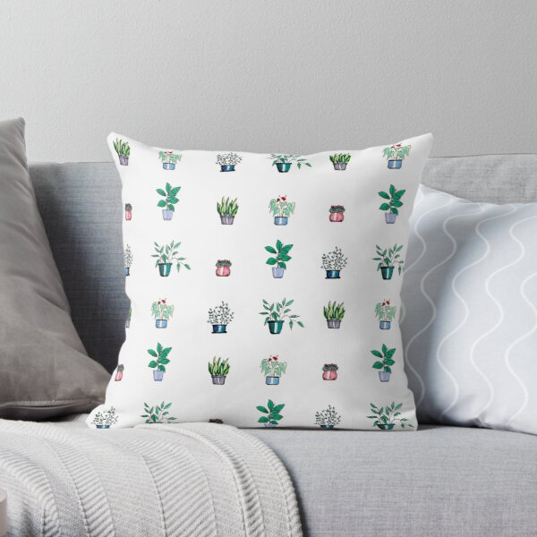 A Collection of House Plants Throw Pillow