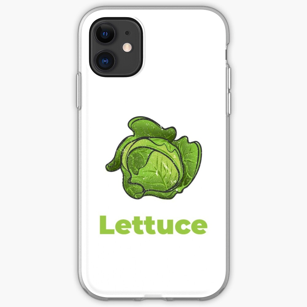 Lettuce Vegetable with Name iPhone Case & Cover