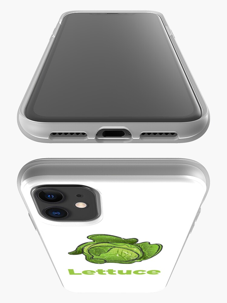 Alternate view of Lettuce Vegetable with Name iPhone Case & Cover