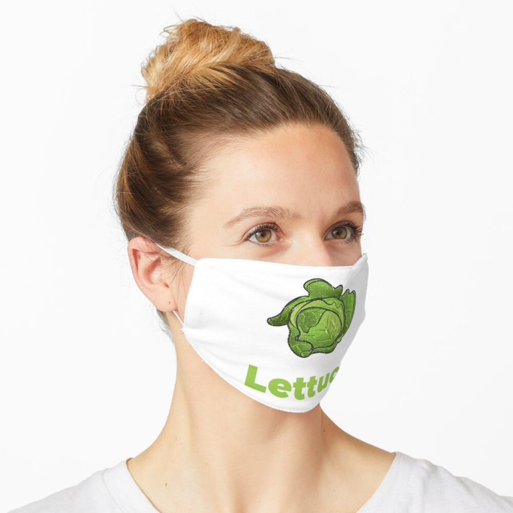 Lettuce Vegetable with Name Mask