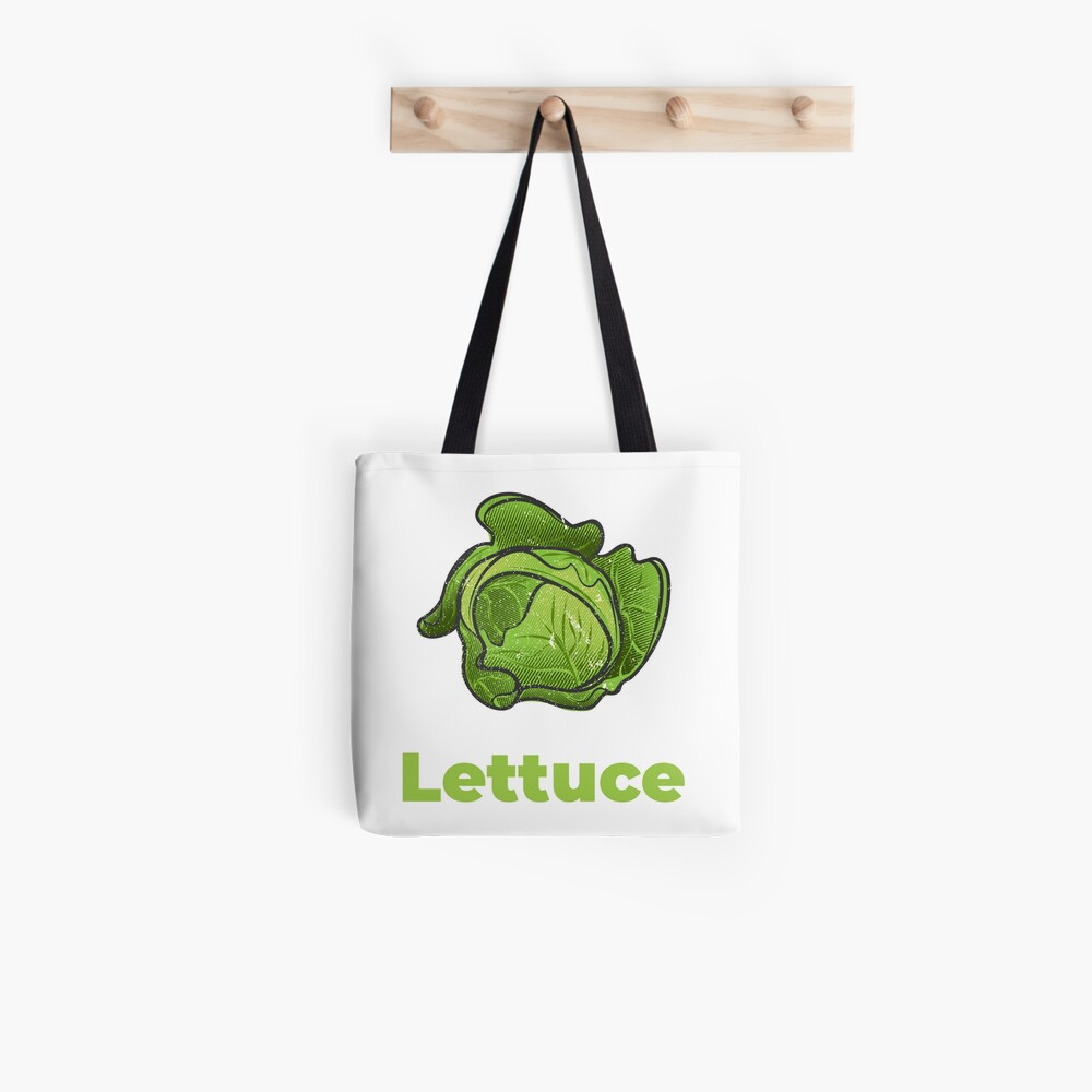 Lettuce Vegetable with Name Tote Bag