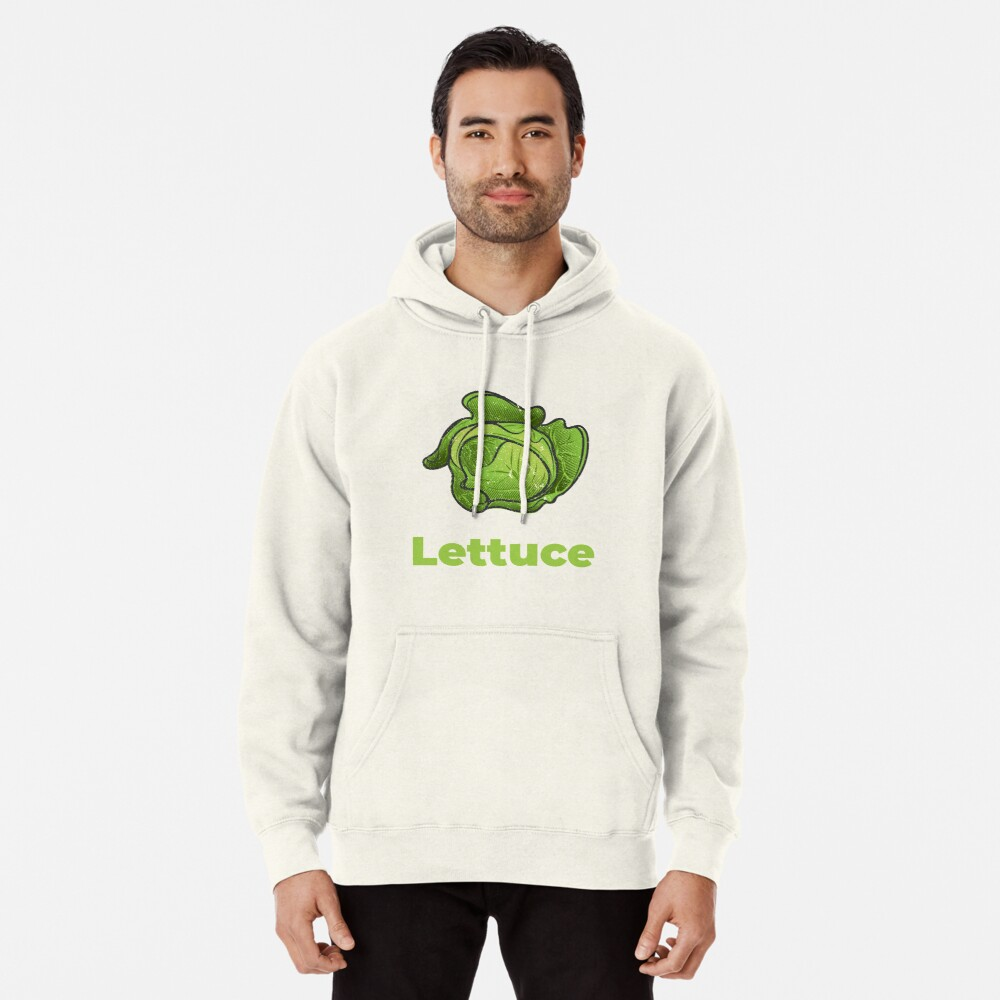 Lettuce Vegetable with Name Pullover Hoodie