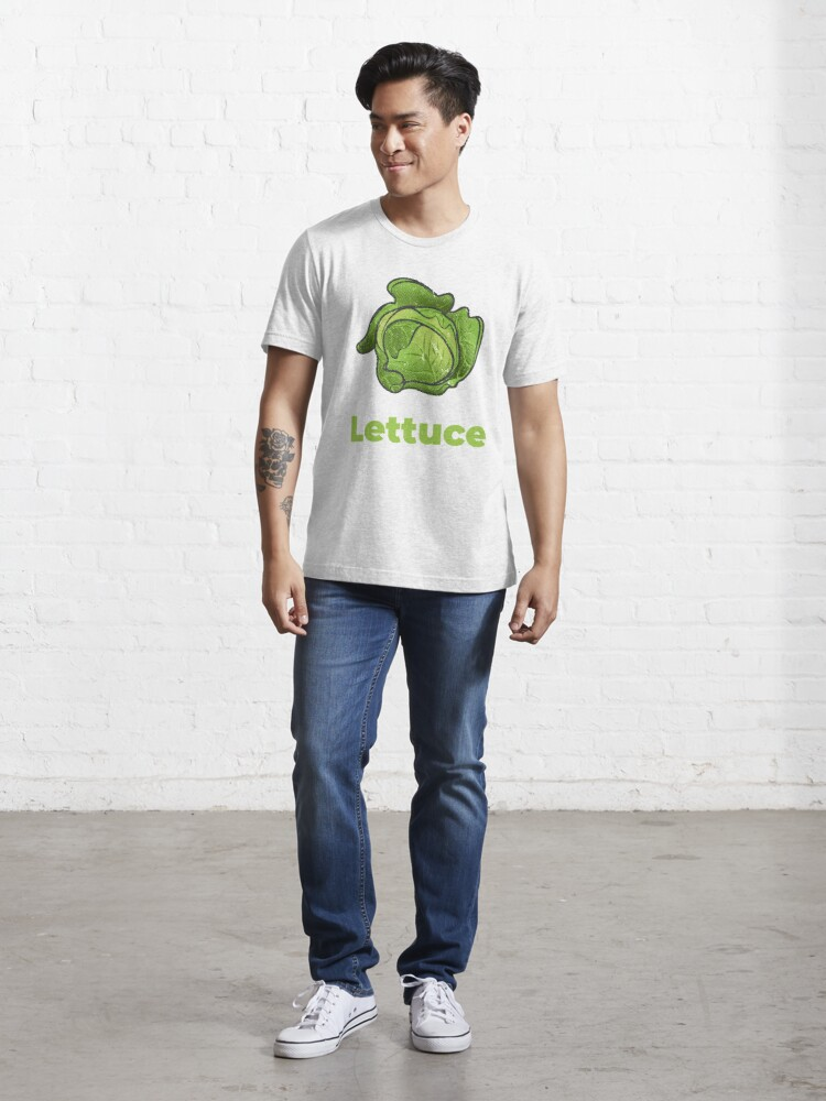 Alternate view of Lettuce Vegetable with Name Essential T-Shirt