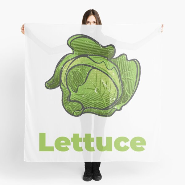 Lettuce Vegetable with Name Scarf