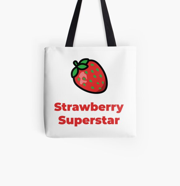 Strawberry Superstar All Over Print Tote Bag