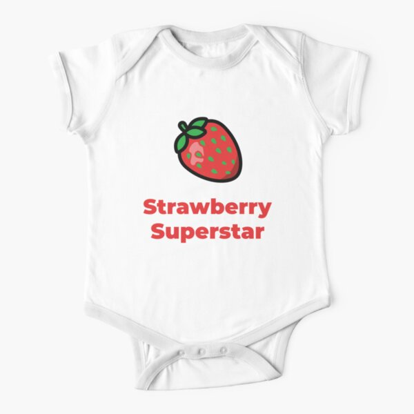 Strawberry Superstar Short Sleeve Baby One-Piece
