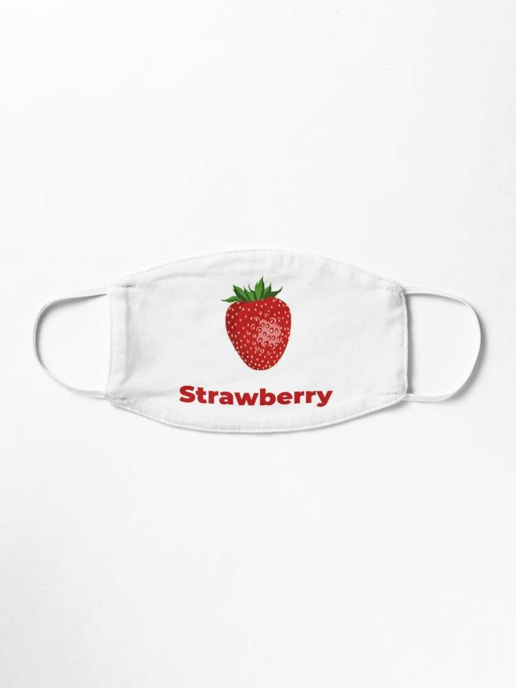 Alternate view of Strawberry Fruit with Name Mask