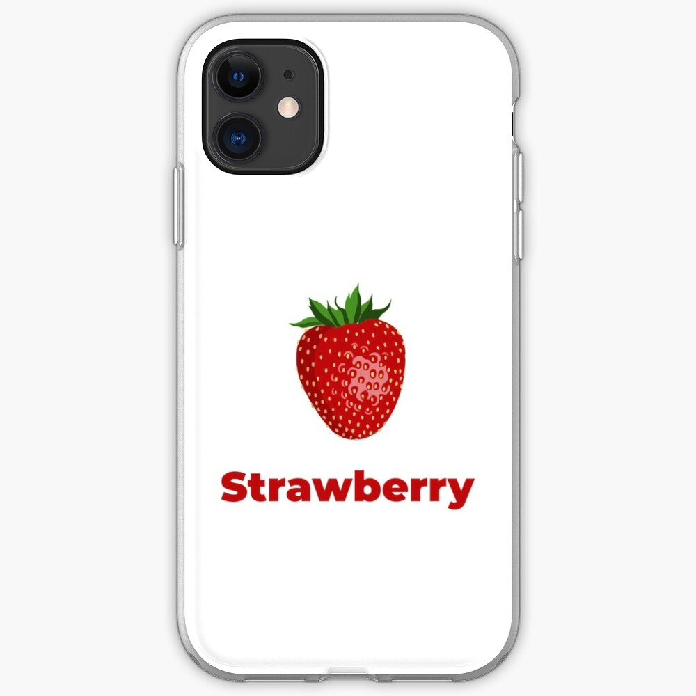 Strawberry Fruit with Name iPhone Case & Cover
