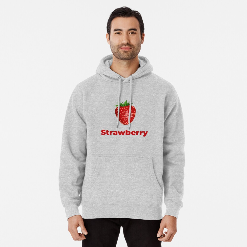 Strawberry Fruit with Name Pullover Hoodie