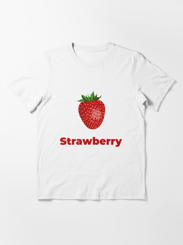 Alternate view of Strawberry Fruit with Name Essential T-Shirt