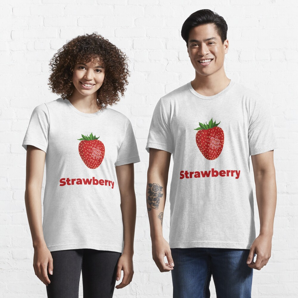 Strawberry Fruit with Name Essential T-Shirt