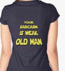Weak Sarcasm Women's Fitted Scoop T-Shirt