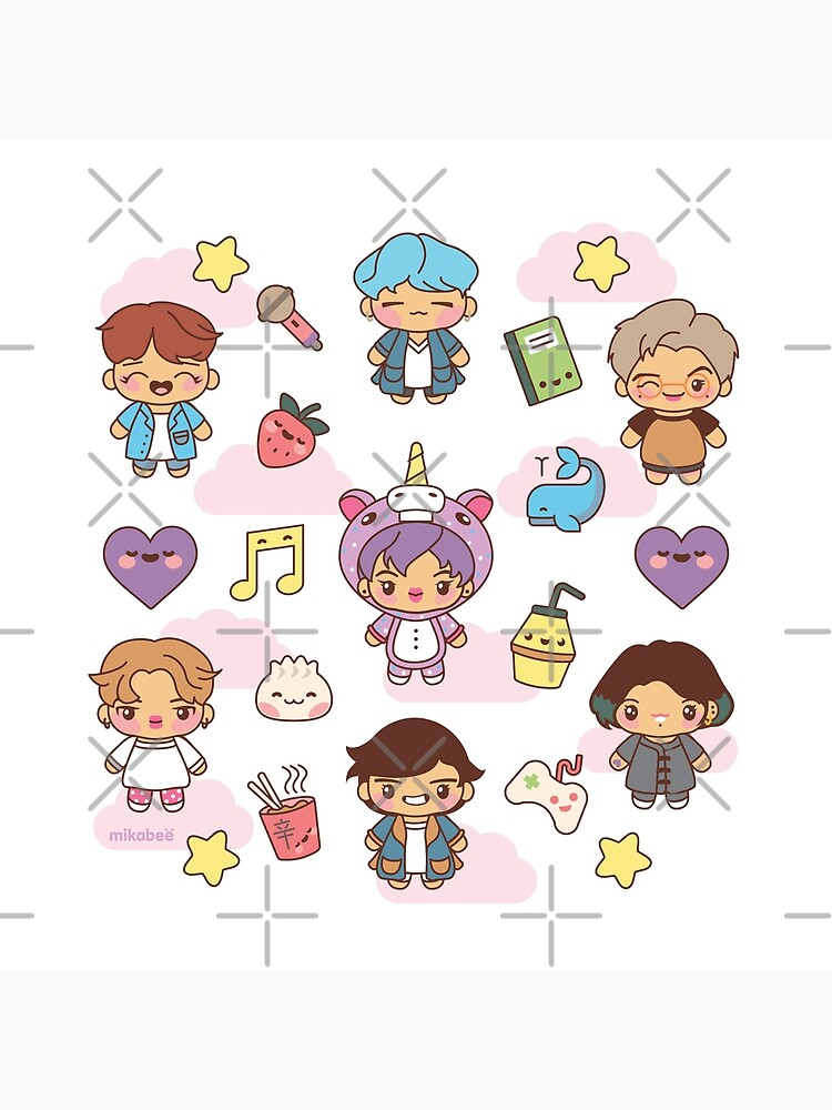 BTS Pajama Party (White/Clear Version) by MikaBees