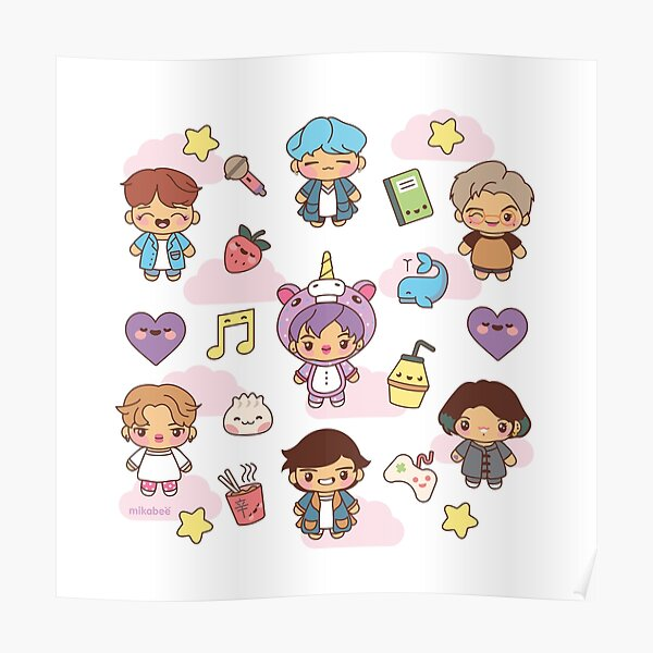 BTS Pajama Party (White/Clear Version) Poster