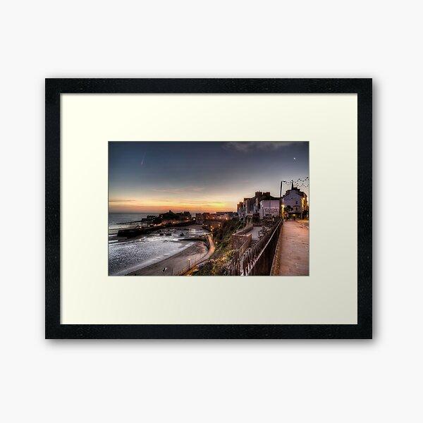 Tenby Harbour in November Framed Art Print