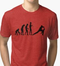 EVOLUTION TO CRICKET Tri-blend T-Shirt