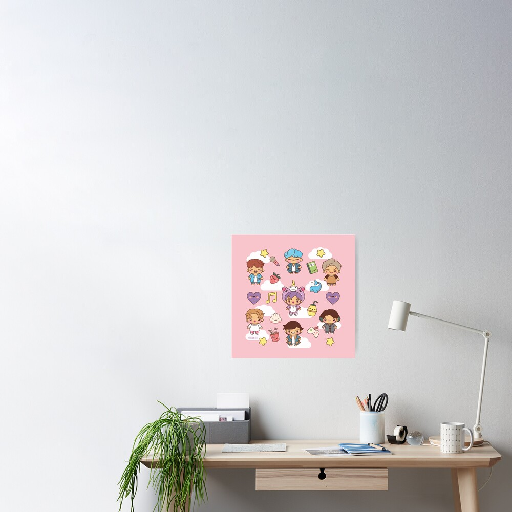 BTS Pajama Party (Pink Version) Poster