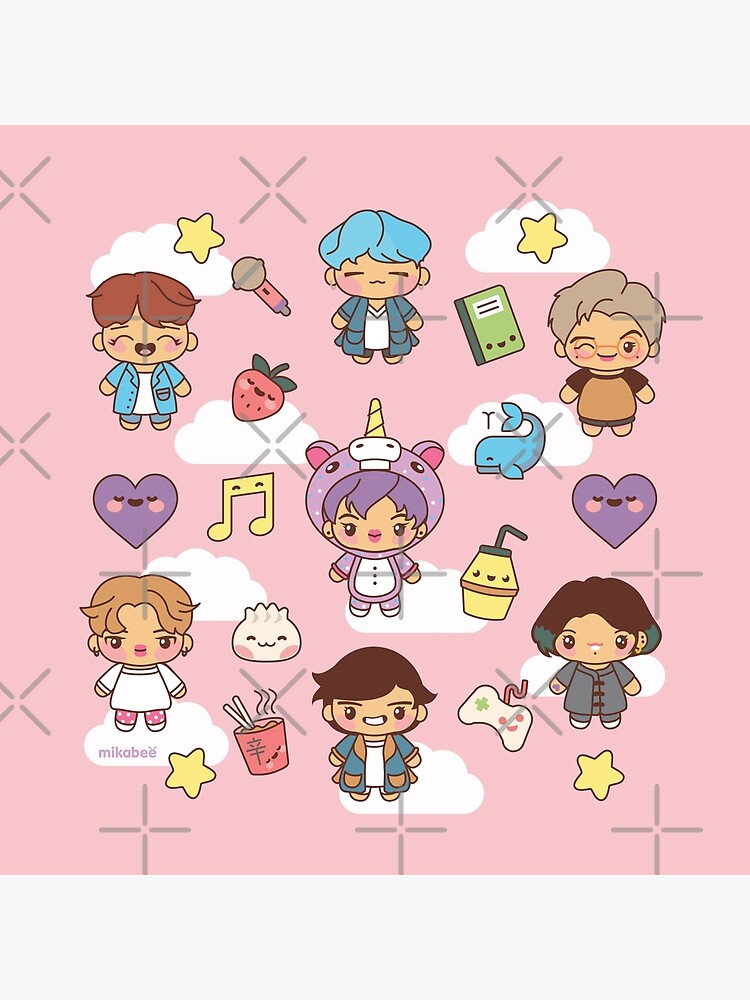 BTS Pajama Party (Pink Version) by MikaBees