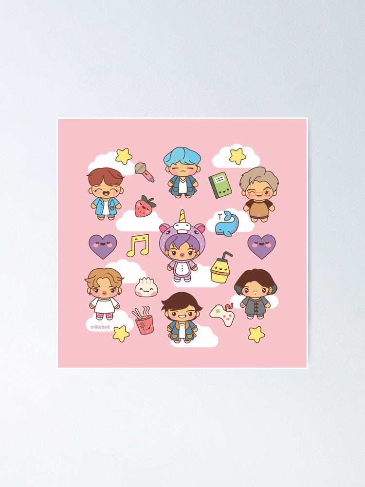 Alternate view of BTS Pajama Party (Pink Version) Poster