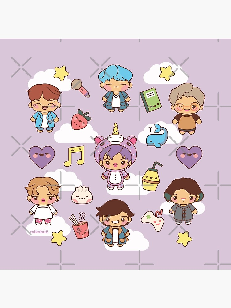 BTS Pajama Party (Purple Version) by MikaBees