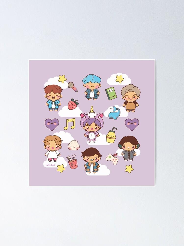 Alternate view of BTS Pajama Party (Purple Version) Poster