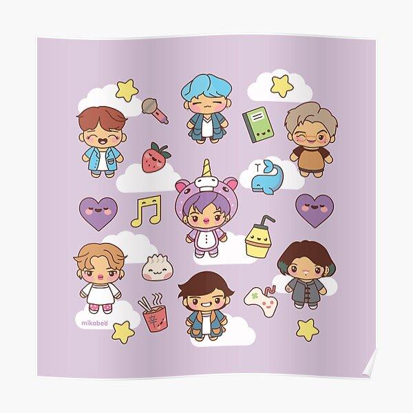 BTS Pajama Party (Purple Version) Poster