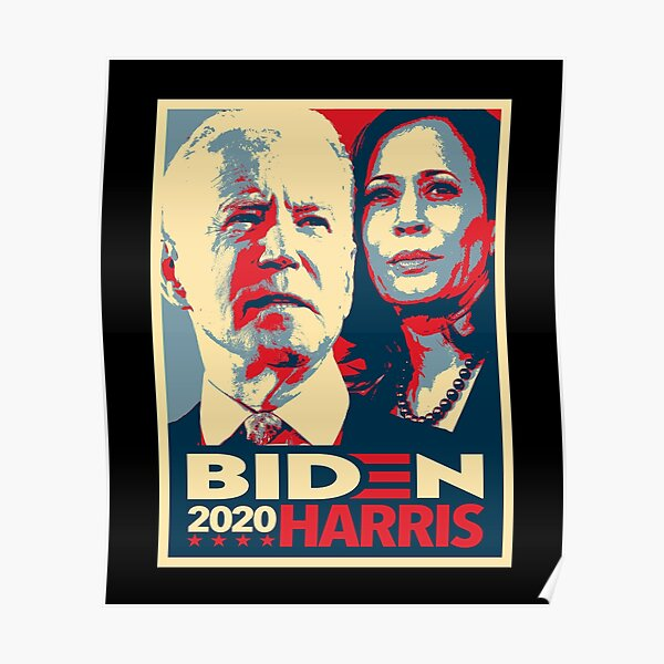 Joe Biden and Kamala Harris 2020 - Biden Harris 2020 Hope Design Poster