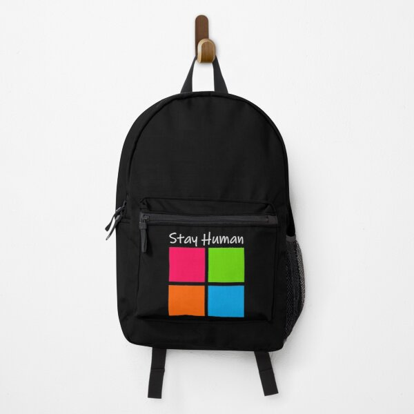 Stay Human Campaign Logo Backpack