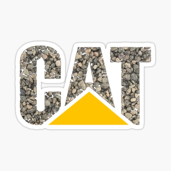 CAT in Gravel Sticker