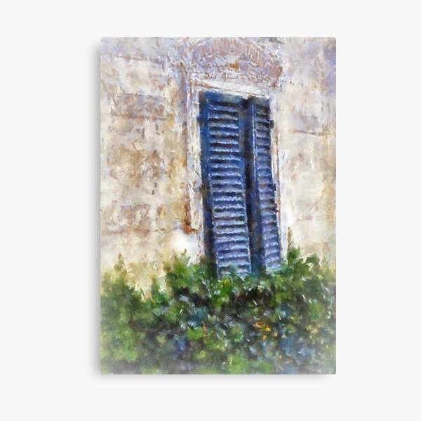 Shuttered windows, Fiesole, Italy Canvas Print