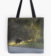 Black Bear Morning Tote Bag