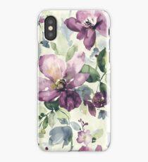 Purple wild flower iPhone Case
