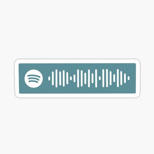 brand new ben album spotify code turqoise blue Sticker