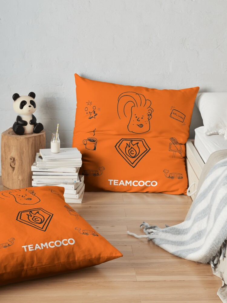 Alternate view of Team Coco - Doodle World Floor Pillow