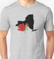 New York Silhouette and Flower Unisex T-Shirt
