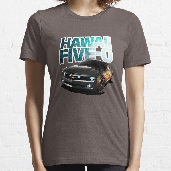 Hawaii Five-O schwarzer Camaro (weißer Umriss) Essential T-Shirt