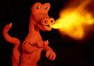 Fire breathing Dinosaur by Sara Sadler