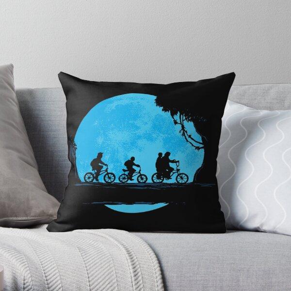 Friendly Moonride Throw Pillow