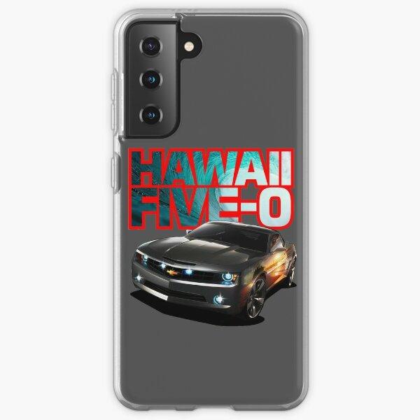 Hawaii Five-O Black Camaro (Red Outline) Samsung Galaxy Soft Case