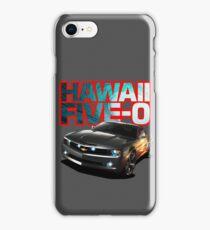 Hawaii Five-O Black Camaro (Red Outline) iPhone Case/Skin