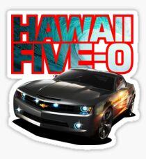 Hawaii Five-O Black Camaro (Red Outline) Sticker