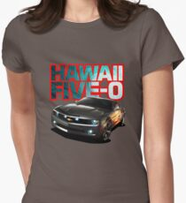 Hawaii Five-O Black Camaro (Red Outline) Women's Fitted T-Shirt