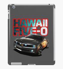 Hawaii Five-O Black Camaro (Red Outline) iPad Case/Skin