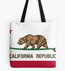Surfing California Bear Tote Bag