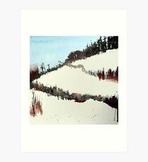 Mount Royal #5, Montreal, watercolour Art Print