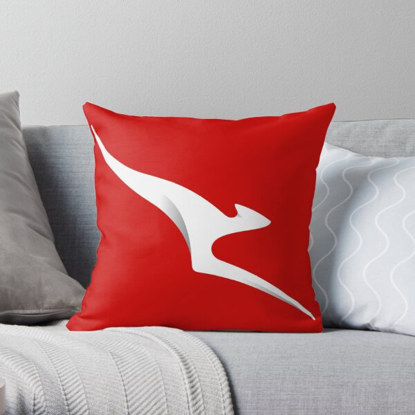 Flying Roo Throw Pillow