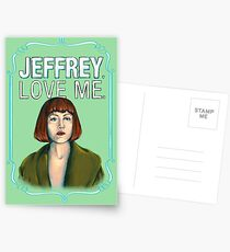 BIG LEBOWSKI-Maude Lebowski- Jeffrey. Love me. Postcards