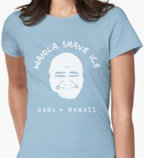 Waiola Shave Ice (White) Women's Fitted T-Shirt